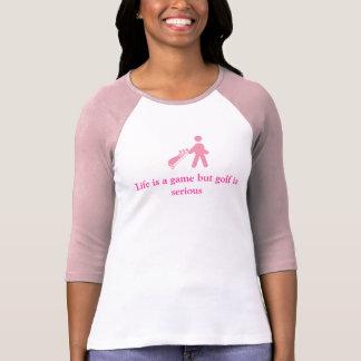 Golf golfing Ladies tee shirt