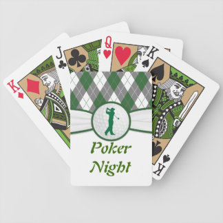 Golf Golfing poker night Red Black Poker Deck