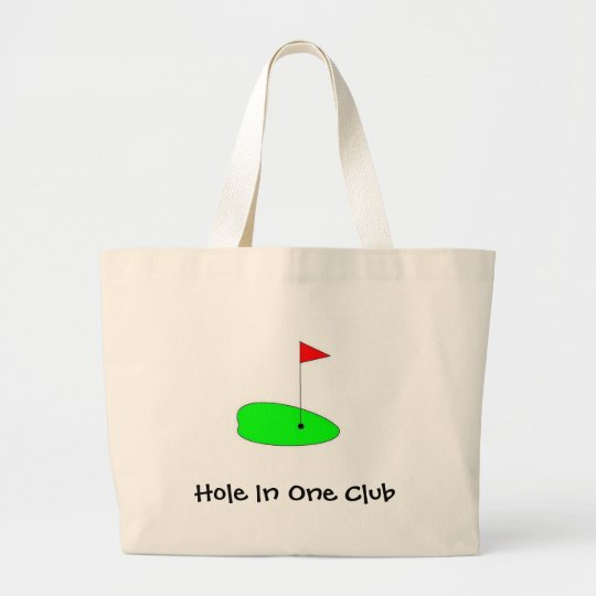 golf green, Hole In One Club Large Tote Bag