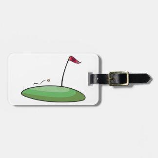 Golf Green Luggage Tags