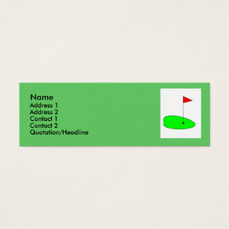 Golf green profile card