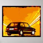 Golf GTi MkI Orange Poster