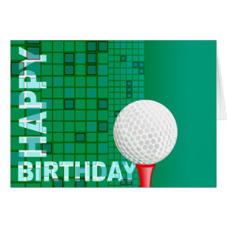 Golf Happy Birthday Card