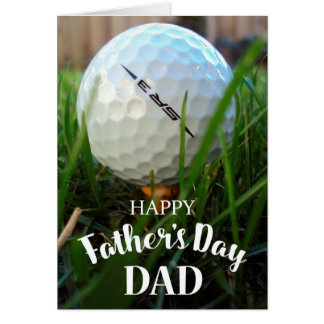 GOLF HAPPY FATHER'S DAY CARD