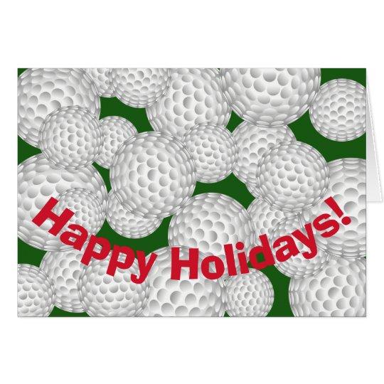 Golf Happy Holidays Card