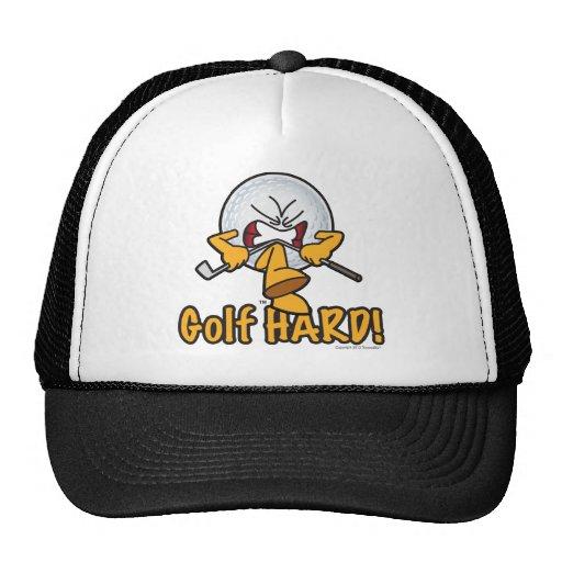 Golf Hard Funny Golf Cartoon Hat