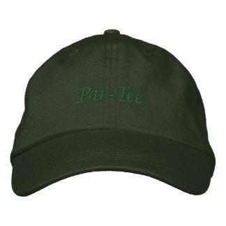 Golf Hat - golfer gift - Par-Tee Embroidered Baseball Cap
