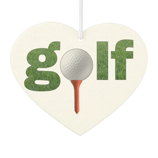 Golf Heart Green and Tee Car Air Freshener