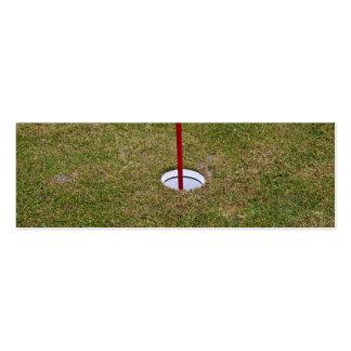 Golf hole business card templates