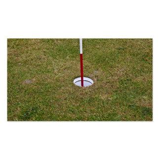 Golf hole business cards