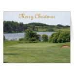 Golf hole image Christmas card.. Big Greeting Card