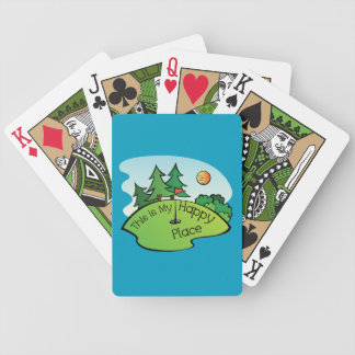 Golf hole image playing cards