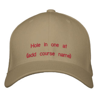Golf Hole in One Cap Embroidered Baseball Caps