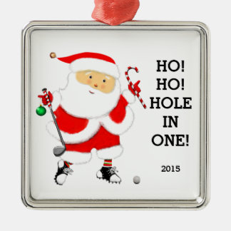 "golf ""hole in one"" collectible Silver-Colored square decoration"