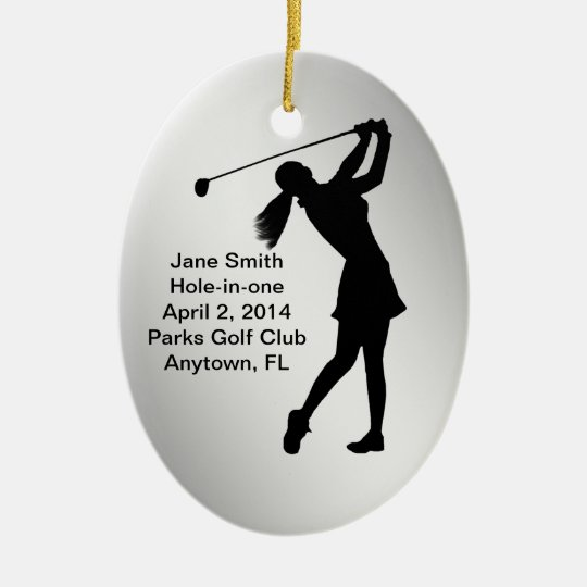 Golf Hole-in-one Commemoration Customisable Christmas Ornament