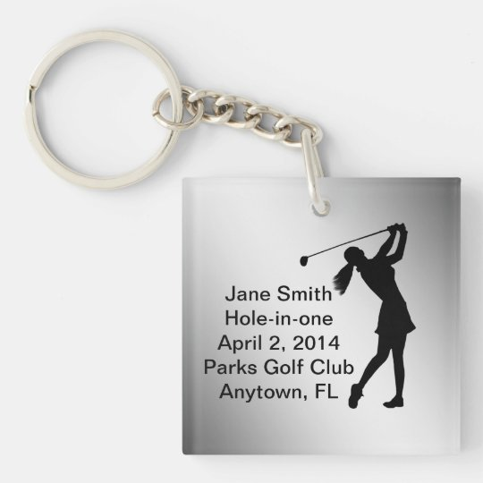 Golf Hole-in-one Commemoration Customisable Key Ring