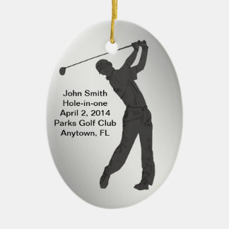 Golf Hole-in-one Commemoration Customizable Ceramic Oval Decoration