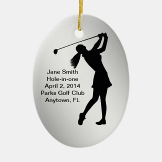 Golf Hole-in-one Commemoration Customizable Christmas Ornament
