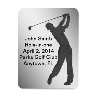 Golf Hole-in-one Commemoration Customizable Rectangular Photo Magnet