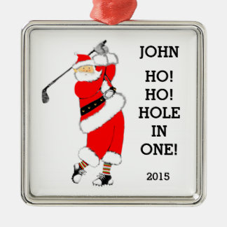 Golf Hole-in-one Silver-Colored Square Decoration