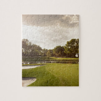 Golf hole jigsaw puzzle