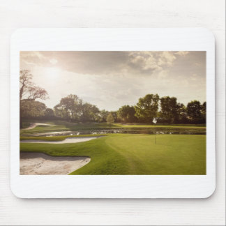 Golf hole mouse mat