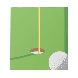 Golf Hole Notepad