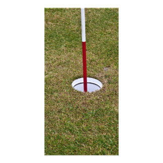 Golf hole photo greeting card