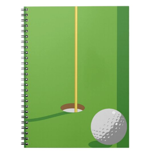 Golf Hole Spiral Notebook