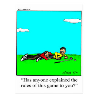 Golf Humor Postcard