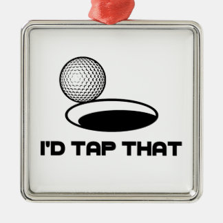 Golf I'd Tap That Christmas Ornament