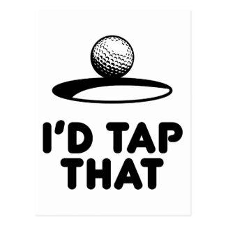 Golf - I'd Tap That Postcard