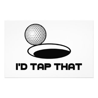 Golf I'd Tap That Stationery
