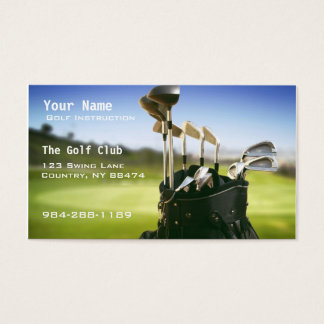 Golf Instruction Business Card