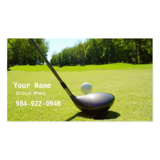 Golf Instruction Business Card Templates