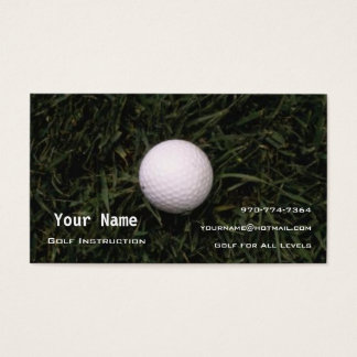 Golf Instructor Business Card