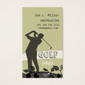Golf Instructor Coach Teacher Business Card