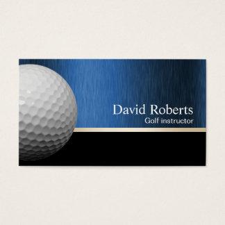 Golf Instructor Professional Black & Blue