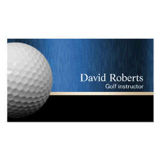 Golf Instructor Professional Black & Blue Pack Of Standard Business Cards