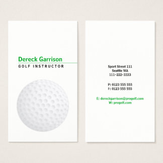Golf Instructor | Professional Business Card