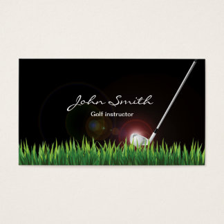 Golf Instructor Professional Business Card