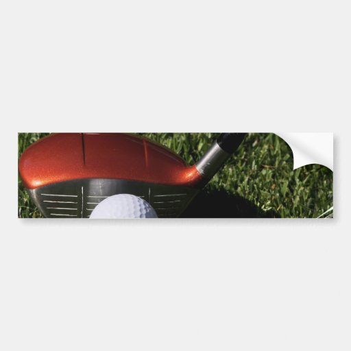 Golf Iron and Ball Bumper Sticker