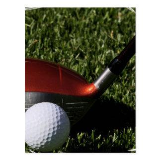 Golf Iron and Ball Postcard