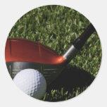 Golf Iron and Ball Sticker