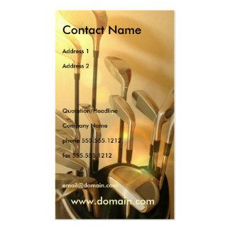 Golf Irons Business Card