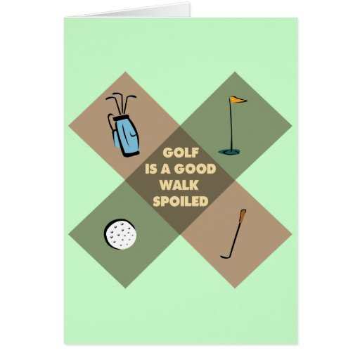 GOLF IS A GOOD WALK SPOILED CARDS