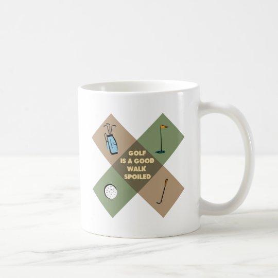 GOLF IS A GOOD WALK SPOILED COFFEE MUG