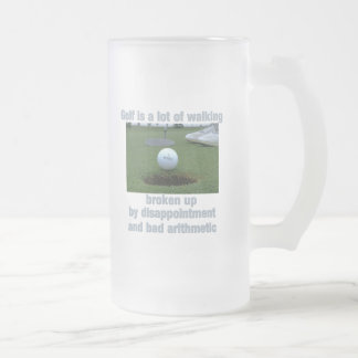 Golf is a lot of walking frosted glass mug