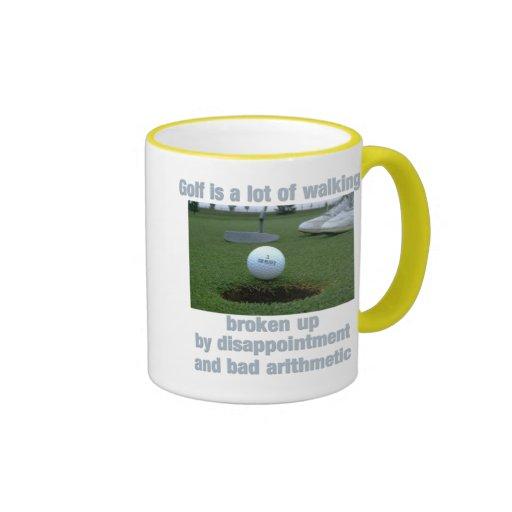 Golf is a lot of walking mugs