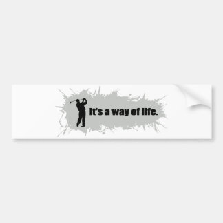 Golf is a Way of Life Bumper Sticker